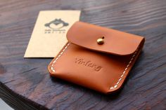 Cute Handmade Leather coin purse  Couldn't believe it's handmade