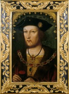 "A  diplomat described Henry VIII in 1515 when the king was 24: ""His Majesty is the handsomest potentate I ever set eyes on; above the usual height, with an extremely fine calf to his leg, his complexion very fair and bright, auburn hair combed straight and short, in the French fashion, and a round face so very beautiful that it would become a pretty woman."""