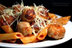 Chicken Meatballs For Spaghetti and Meatballs. Photo by Chef floWer