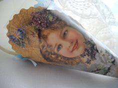 Victorian Inspired Tussie Mussie Victorian Girl by handcraftusa