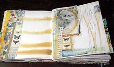 pages in DJ Pettitt handmade book #handmade_book #mixed_media #stitching