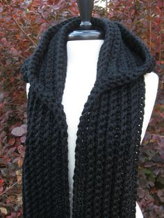 Order by Dec 18th get it for Christmas with free shipping anywhere in the continental U.S. Ultra Plush Nordic Hooded Scarf hooded scarf by nutsaboutknitting