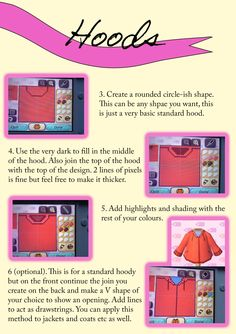 """acnlapparel: """" The tutorial on hoods is here! They're actually pretty easy to make but I hope this helps all who have been struggling! Enjoy :) """""""