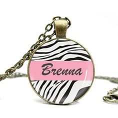Zebra necklace custom any name charm Personalized Products, Personalized Necklace, Shopping Mall, Coin Purse, Fashion Jewelry, Gifts, Shopping Center, Favors, Presents