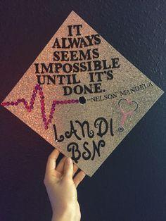 <3 here we go! UW nursing graduation cap!