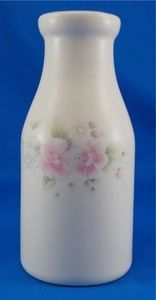 Pfaltzgraff TEA ROSE Decanter 8.25 in. Stoneware Pink Blue Flowers Bottle Shape.  As always your entire order ships for only $4.99, only at http://www.totallytableware.com/