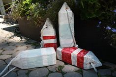 diy beachy buoys, crafts, repurposing upcycling
