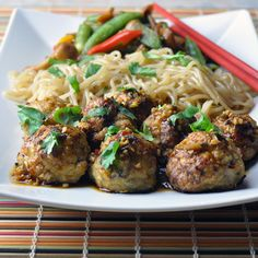 Asian Chicken Meatballs w/ Szechuan Garlic Sauce by unorthodozepicture #Meatballs #Chicken #Asian #Healthy
