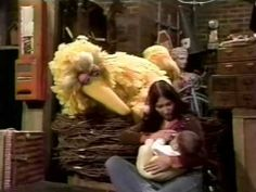 Breastfeeding seems normal to Big Bird!