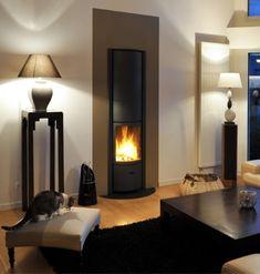 stuv 30 in #KernowFires #stuv #fireplace #woodburner #stove #cornwall #inset #contemporary