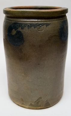 """Solomon Bell & Son Two Gallon 12"""" Stoneware Jar »  Circa 1845-1882"""