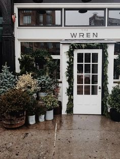 The Wren is a bar and restaurant located on the Bowery in Manhattan, New York. In busy, bustling, technicolor Manhattan, this clean, white storefront is like a breath of fresh air. The potted plant...