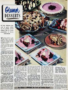 Glamour desserts, 1955.