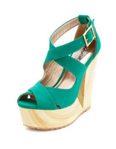 X-Front Cutout Wooden Wedge Sandal Get 10% off your purchase at http://www.studentrate.com/itp/get-itp-student-deals/Charlotte-Russe-10percent-Student-Discount--/0