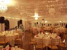 Amazing lighting and chandeliers at this wedding reception! {Bristow Manor}