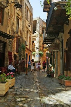 Shopping in Hania, Crete, Greece
