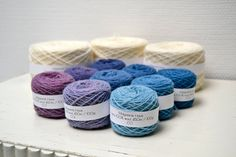 Naturally Dyed Vindauga Baby Blanket Knitting Kit - Sif by midgaardshave on Etsy