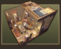 House Architecture Drawing Projects 49 Ideas - New Sites Environment Concept Art, Environment Design, Habbo Hotel, Bd Art, Rpg Map, Bg Design, Isometric Art, Fantasy House, 3d Home