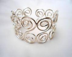 Art Wire Jewelry Wire Wrapped Bracelet Silver sami-s-style