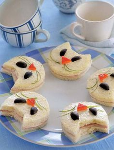Kitty cat tea sandwiches!