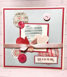 New card today Love is in the air Card Maker, Advent Calendar, Love You, Passion, Holiday Decor, Paper, Crafts, Instagram, Home Decor
