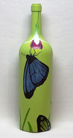 Art of Wine : Carmel Arts & Design District : Carmel, Indiana Plastic Bottle Art, Glass Bottle Crafts, Wine Bottle Art, Glass Painting Designs, Pottery Painting Designs, Bottle Drawing, Bottle Painting, Carmel Indiana, Painted Glass Bottles