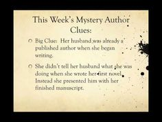 #Whodunit Challenge 2: Can You Guess the #Mystery Author? - It's A Mystery Blog