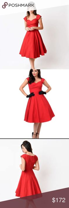 Stop Staring Mad Style dress in red! BNWT! Stop Staring Dresses Midi