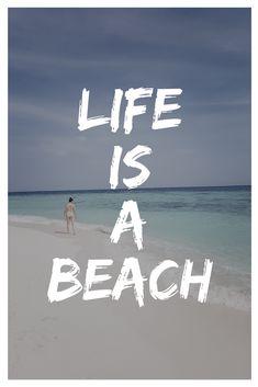 Life is a beach Travel quotes / travelquote / travels / travel / travelblog / beach / island / indonesia / jawa / java / karimunjawa