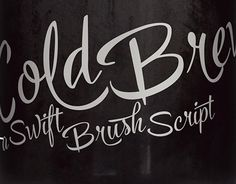 Cold Brew is a swift brush script family of three weights and a set of extras. Cold Brew is based on hand drawn letters polished with care to retain the vivid appearance of ink brush.Cold Brew is equipped with OpenType features to give you tools for cu… Hand Lettering Fonts, Brush Script, Font Family, Cold Brew, Working On Myself, New Work, Brewing, How To Draw Hands, Behance