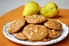 white choc chip pear pumpkin cookies