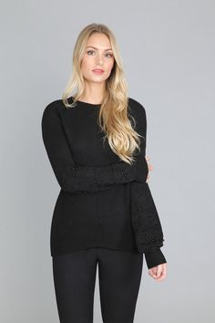 SWEATER WITH DETAILS ON SLEEVES Stripped Dress, Coat Sale, Timeless Design, Flare Dress, Luxury Branding, Dresses For Sale, Cold Shoulder Dress, Fall, Long Sleeve