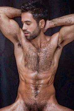 Hairy chested naked men