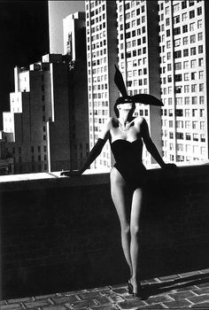95ccefa778 Helmut Newton bunny is black and white. photography class - closer Helmut  Newton - Elsa Peretti in a  Bunny  costume by Halston