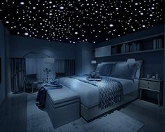 Realistic Glow in the Dark Stars - 600 Stars! - 3D Domed Stars, Long Lasting, Self-Adhesive Stars - Create an Unbelievable Starry Sky for your Child or a Romantic Night Sky