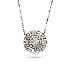 Royalty Inspired Round Pave CZ Pendant