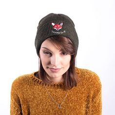 Your place to buy and sell all things handmade Winter Wear, Fall Winter, Autumn, Fox, Beanie, Japanese, Trending Outfits, Hats, Unique