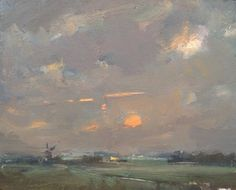 Rose Schuring: Dutch Landscape Morning starts later every day