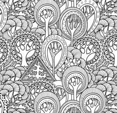 AmazonSmile: Tranquil Trees Adult Coloring Book (31 stress-relieving designs)…