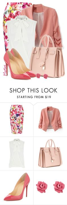 """Bez naslova #1966"" by martina-cciv ❤ liked on Polyvore featuring Louche, River Island, Yves Saint Laurent, Christian Louboutin and Marc by Marc Jacobs"