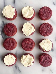 Healthy Homemade Red Velvet Cupcakes made grain, gluten & dairy-free!