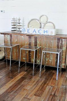 Anna Maria Beach House - beach style - kitchen - tampa - The Blue Moon Trading Company