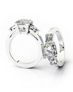 platinum princess cut engagement rings