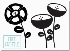 kim watson ★ paper crafts ★ designs: Layered paper flowers + a FREE cutfiles