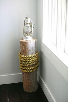 Dock-post lamp! Design*Sponge. O I want to make this for my room