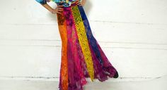 colorful lace skirt