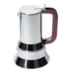 9090 espresso coffee maker (Alessi)   Design: Richard Sapper, 1979