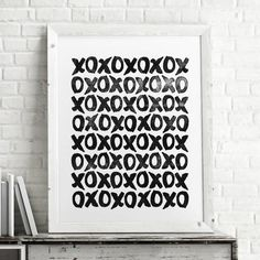 XOXO hugs and kisses http://www.amazon.com/dp/B0176L7846   motivationmonday print inspirational black white poster motivational quote inspiring gratitude word art bedroom beauty happiness success motivate inspire