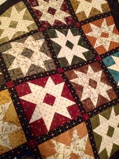 """Stars with 1/2"""" finished sashing by Kim Diehl"""