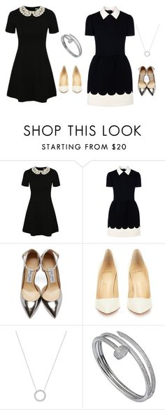 """""""Lauren & Lorie"""" by sabbtenn on Polyvore featuring George, RED Valentino, Jimmy Choo, Christian Louboutin, Michael Kors, Cartier, women's clothing, women's fashion, women and female"""